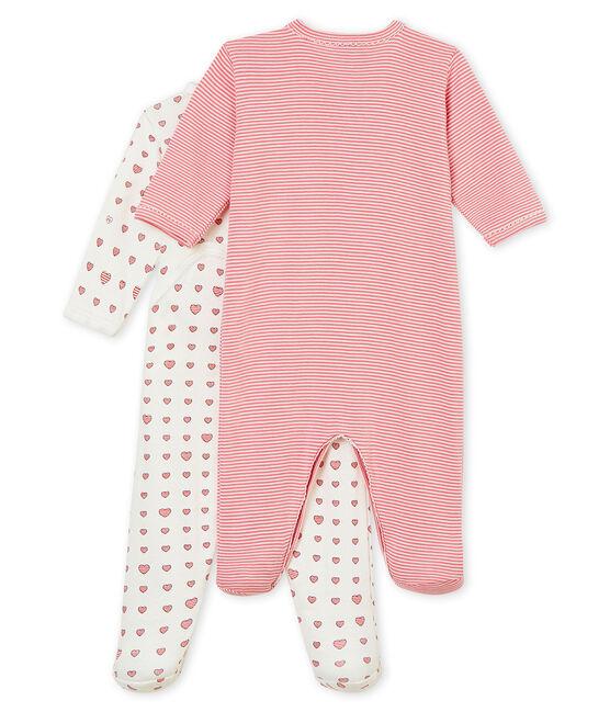 Baby girl's sleepsuit duo . set