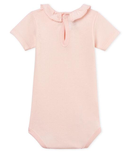 Baby girls' bodysuit with ruff FLEUR