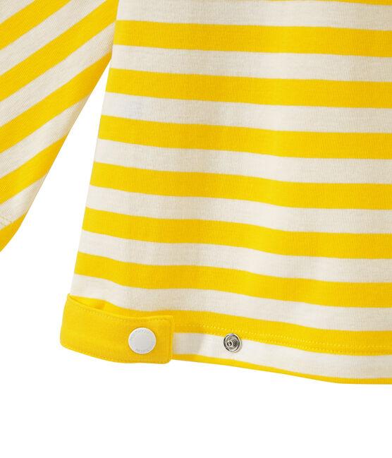 Women's striped long-sleeve tee Shine yellow / Marshmallow white