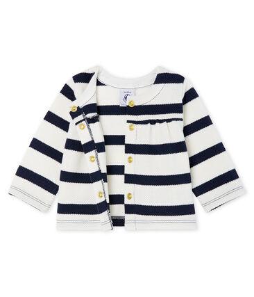 Baby girls' breton striped cardigan
