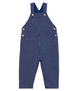 Baby Boys' Striped Knit Long Dungarees
