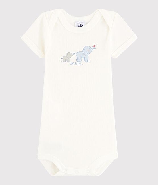 Unisex Babies' Short-Sleeved Bodysuit Lait white