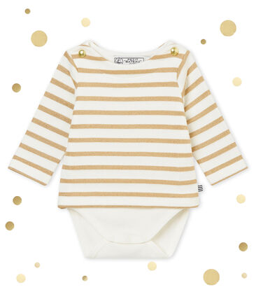Baby girl's sailor striped body T-shirt