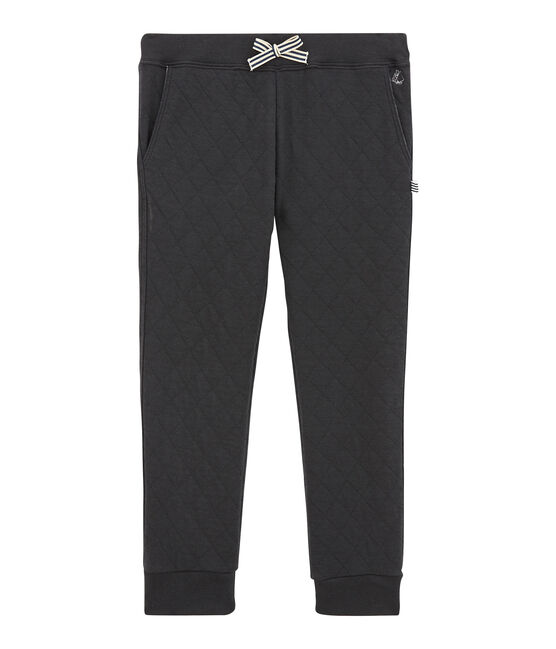 Boy's quilted double knit trousers Capecod grey