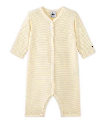 Baby girl's footless sleepsuit in milleraies stripes