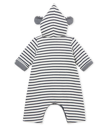 Unisex baby long hooded jumpsuit