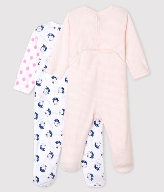 Baby Girls' Ribbed Sleepsuit - 2-Pack . set
