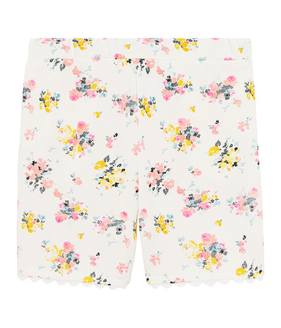 Girls' Bermuda Shorts Marshmallow white / Multico white