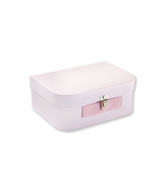 Multi-use milleraies striped case Vienne pink / Ecume white