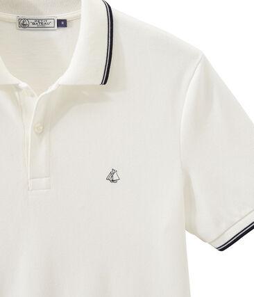 Men's short-sleeved polo shirt Marshmallow white
