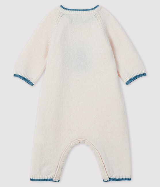 Babies' Patterned Weave Knit Jumpsuit Marshmallow white