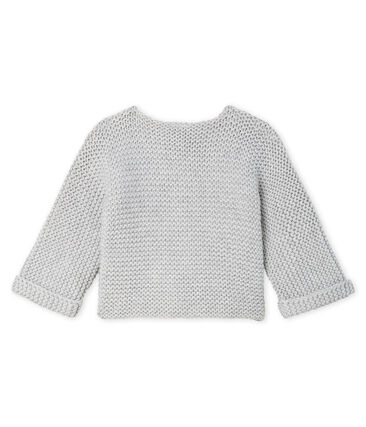 Baby Girl's Wool/Cotton Moss Stitch Cardigan