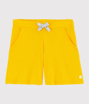 Girl's Cotton Shorts Shine yellow