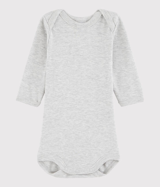 Unisex Babies' Long-Sleeved Bodysuit Beluga grey