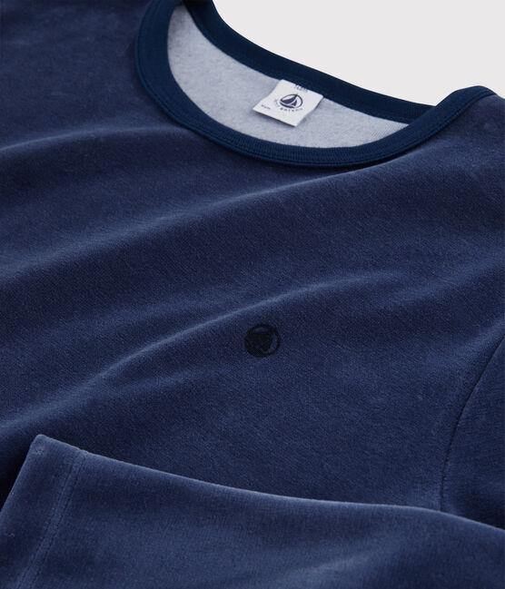 Boys' Navy Velour Pyjamas MEDIEVAL