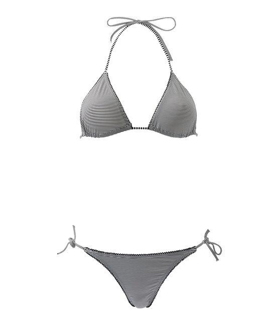 Women's milleraies-striped bikini Abysse blue / Lait white