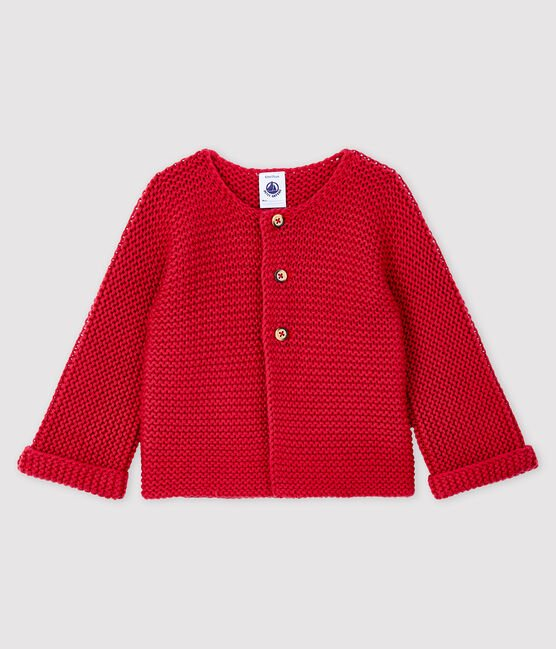 Baby girl's wool and cotton mix cardigan POPPY