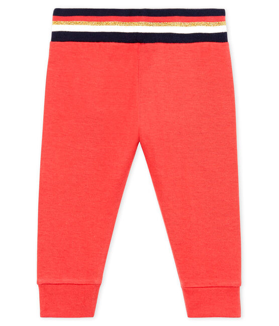 Baby Girls' Tube Knit Trousers Signal red