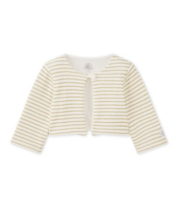 Baby girls' striped cardigan
