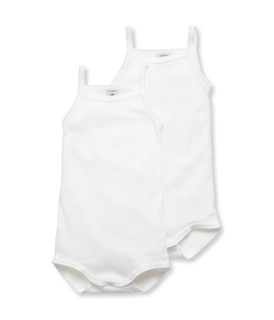 Baby Girls' Bodysuits with Straps - 2-Piece Set . set