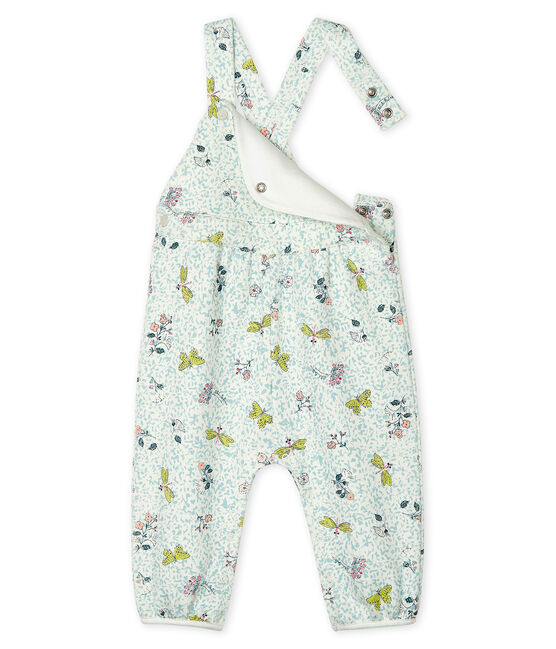 Baby Girls' Long Fleece Dungarees Marshmallow white / Multico white