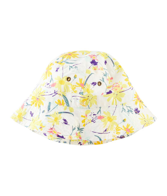 Bucket hat for girls Marshmallow white / Multico white