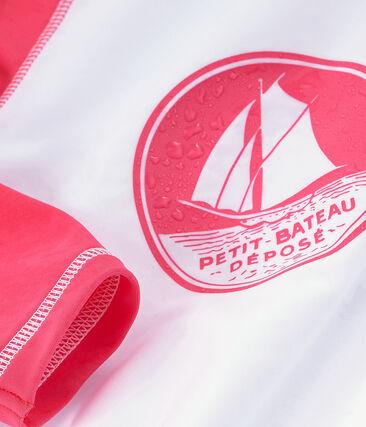 Unisex sun protection T-shirt Marshmallow white / Cupcake pink