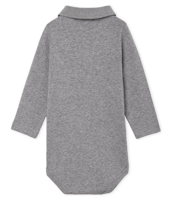 Baby Boys' Long-Sleeved Polo Shirt with Collar Subway grey