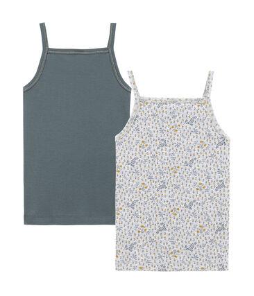 Little girl's strap vest duo