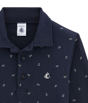 Boy's printed polo shirt
