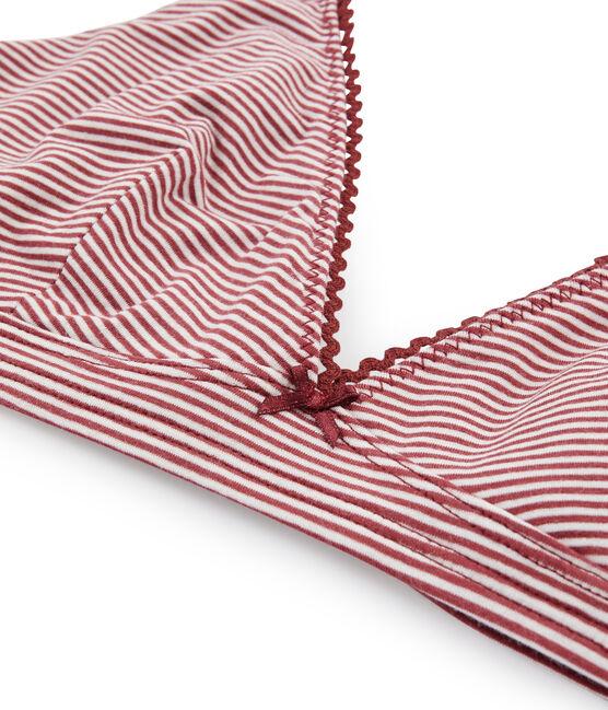 Women's Triangle Bra Carmin red / Marshmallow white