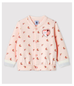 Baby Girls' Print Fleece Baseball Jacket Fleur pink / Multico white