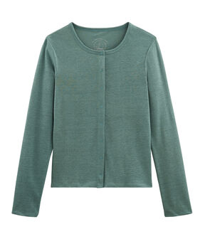 Women's Linen Cardigan Brut blue