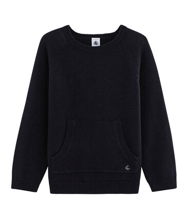 Boys' Wool and Cotton Knit Pullover