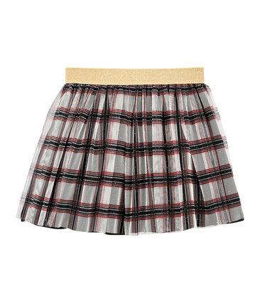 Girls' Tulle Skirt Marshmallow white / Multico white
