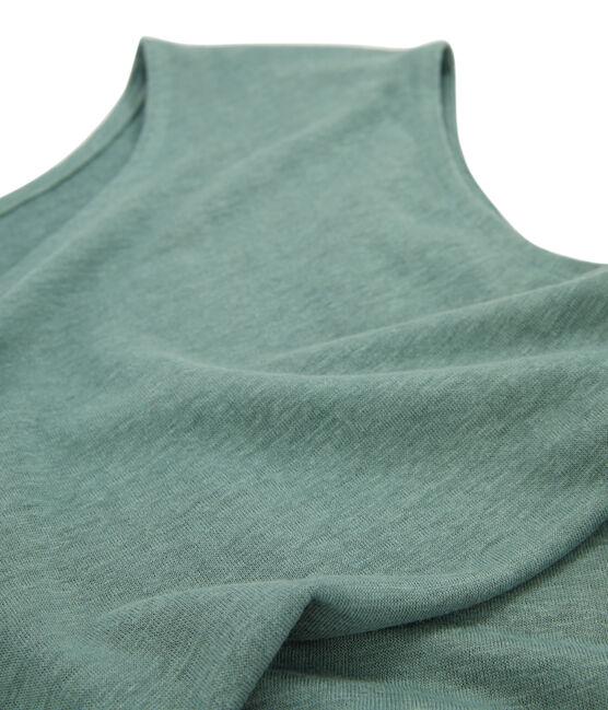 Women's Linen T-Shirt Brut blue