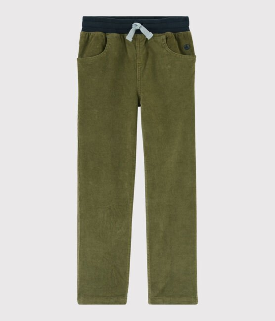Boys' Velvet Trousers MILITARY