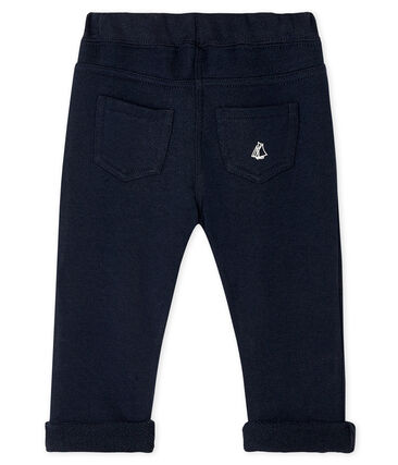 Baby Boys' Plain Fleece Trousers Smoking blue