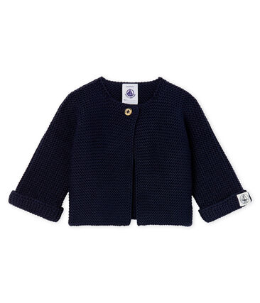 Babies' Cardigan Made Of 100% Cotton Knit Smoking blue