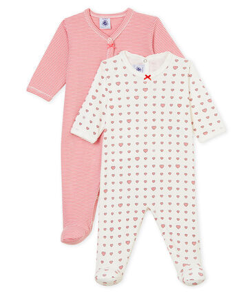 Baby girl's sleepsuit duo