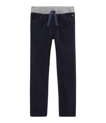 Boys' Velour Trousers Smoking blue