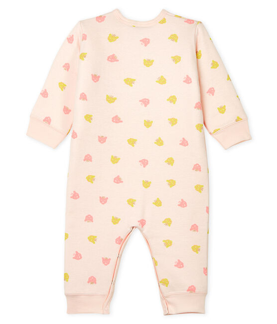 Baby Girls' Footless Padded Ribbed Sleepsuit Fleur pink / Multico white