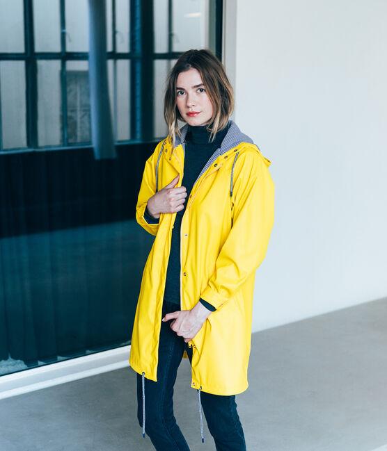 women's parka raincoat Jaune yellow