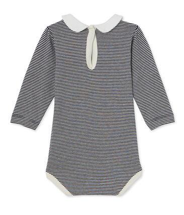 Baby girl's milleraies striped bodysuit