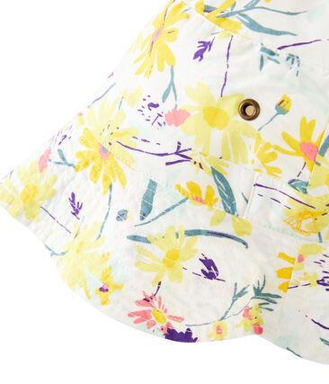 Bucket hat for girls Marshmallow white / Multico white
