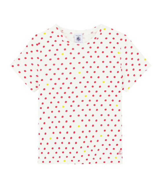 Girls' Short-sleeved T-shirt Marshmallow white / Multico white