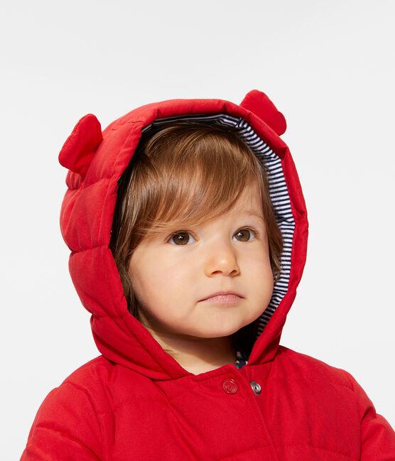 Baby Girls' Microfibre Down Jacket Terkuit red