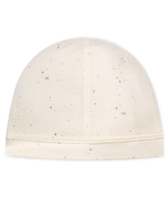Unisex newborn baby bonnet Marshmallow white / Multico white