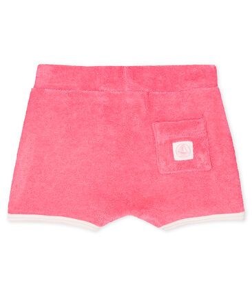 Baby girls' towelling shorts