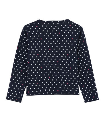 Girls' Cardigan Smoking blue / Multico white